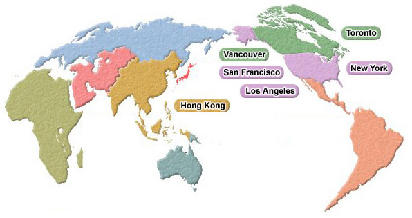 Hong Kong On A World Map.Charming Holidays Worldwide Map